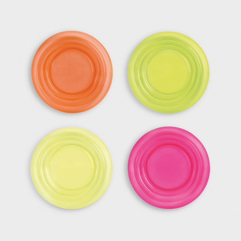 Plate neon set of 4