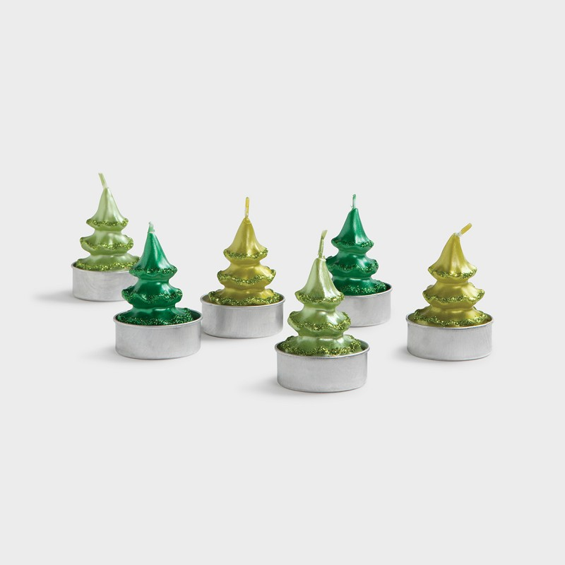 Candle pine tree 6 pack