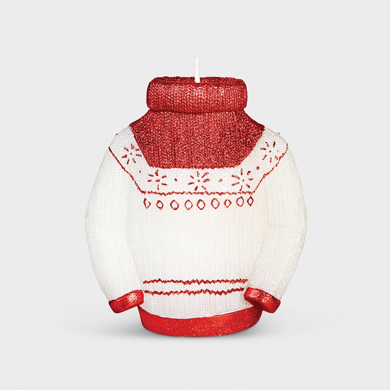 Candle sweater red