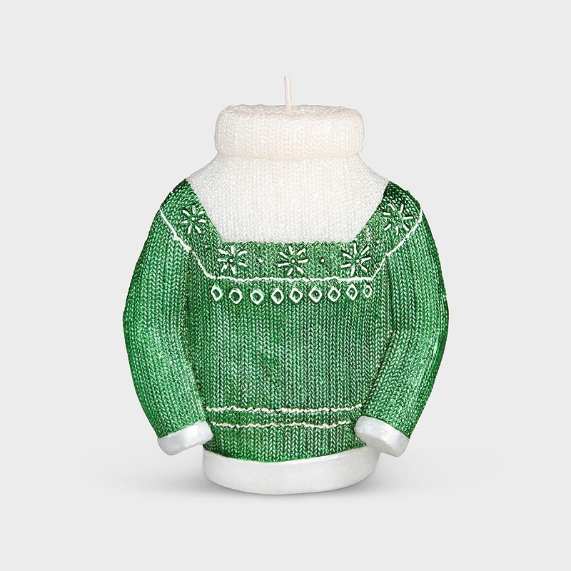 Candle sweater green