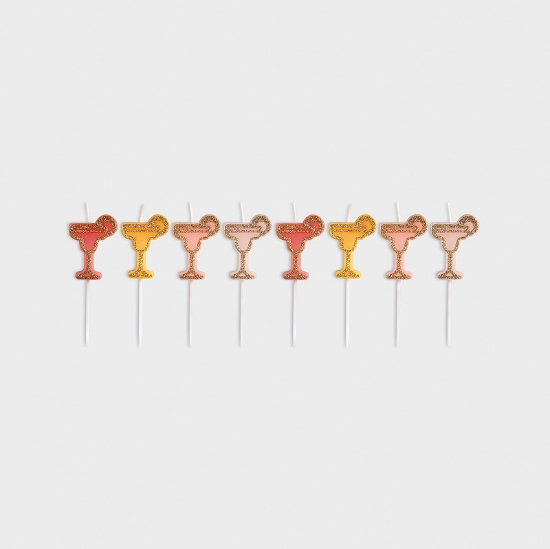 Party candle cocktail set of 8