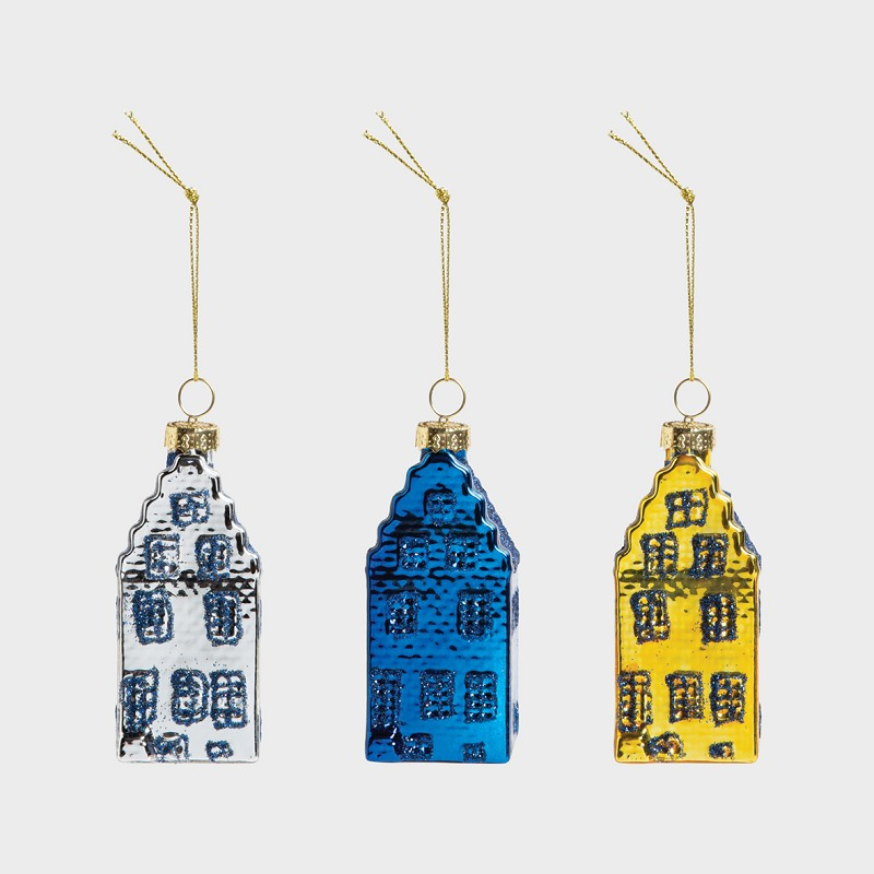 Ornament canal house set of 3