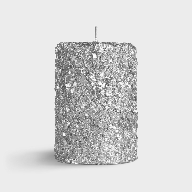 Candle pillar silver small