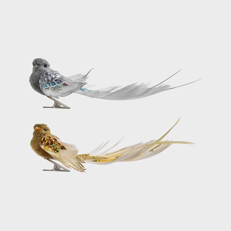 Bird on clip grand set of 2