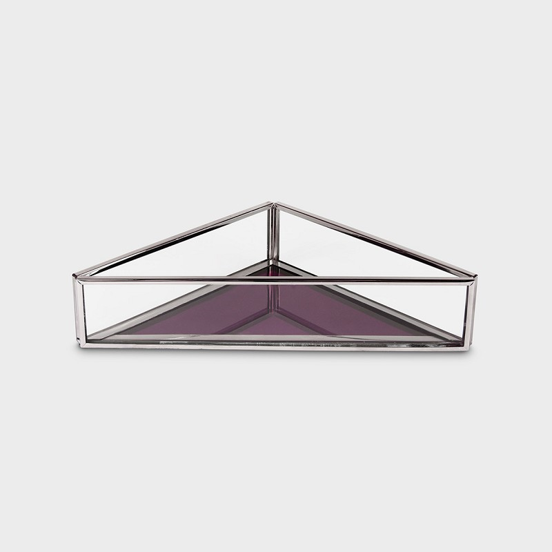 Treasure box triangle amethyst mirror