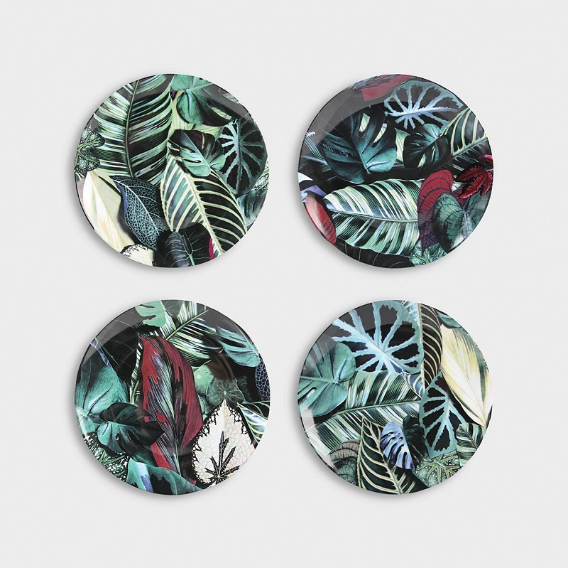 Leaf plates set of 4