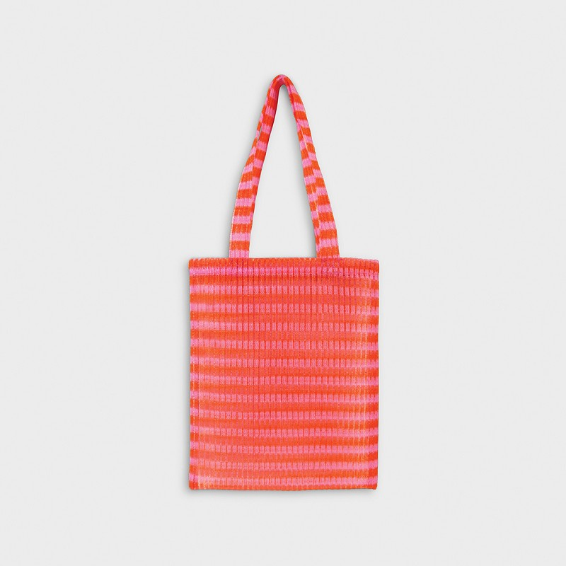 Tote bag stripe red