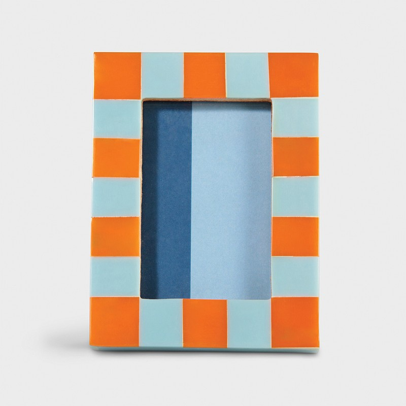 Photo frame check rectangle orange